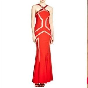 JS Collections Red evening gown from Macy's size 2